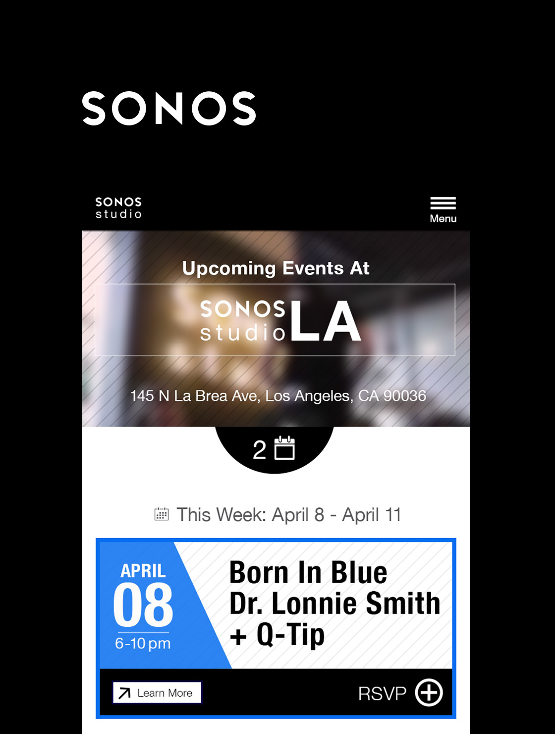 Sonos Studios visual Design